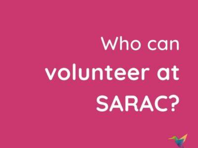 New volunteer opportunities with sarac!